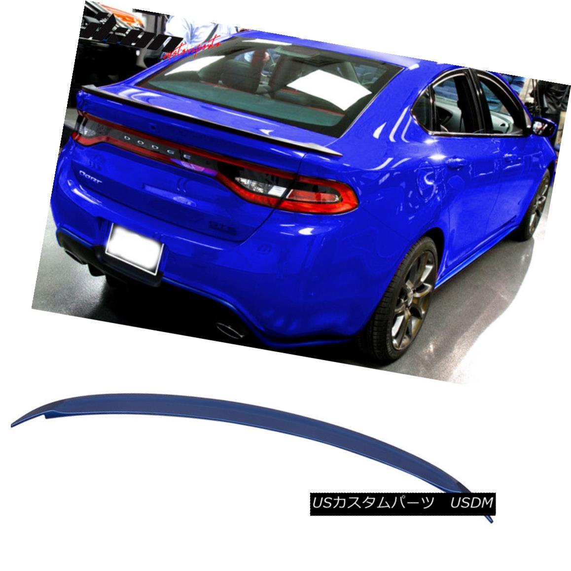 エアロパーツ Fits 13-16 Dart OE Factory Flush Trunk Spoiler Aero Wing #PCL Blue Streak Pearl フィット13-16ダーツOE工場フラッシュトランクスポイラーエアロウィング#PCLブルーストリークパール