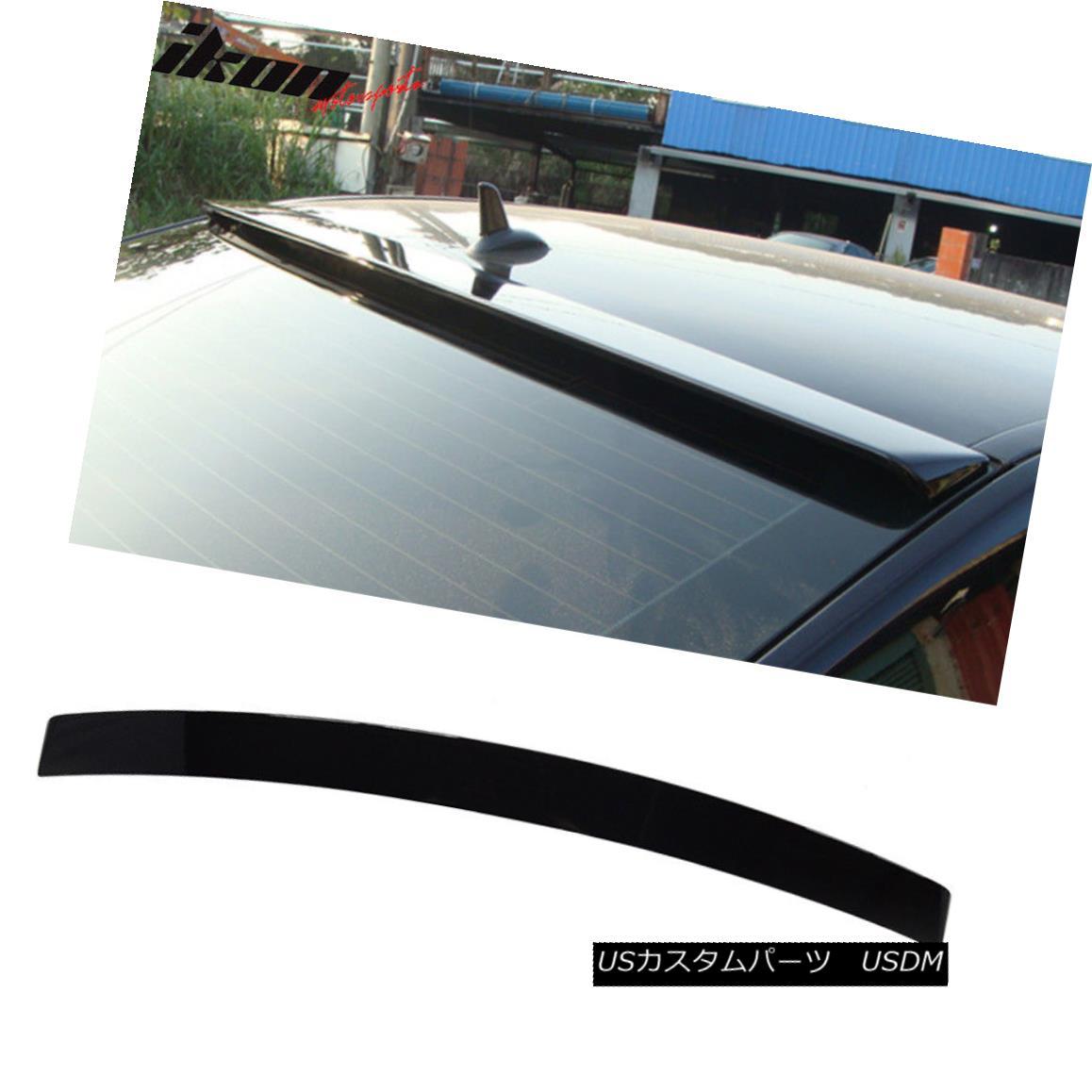 エアロパーツ Fits 10-16 Benz E-Class W212 Roof Spoiler Painted #197 Obsidian Black Metallic フィット10-16ベンツEクラスW212ルーフスポイラー塗装#197黒曜石黒メタリック
