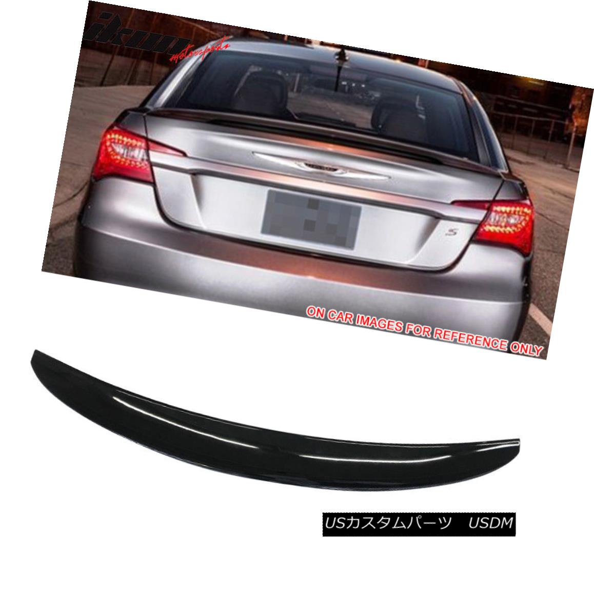 エアロパーツ Fits 11-14 Chrysler 200 OE Style Flushmount Trunk Spoiler Painted #PX8 Black フィット11?14クライスラー200 OEスタイルのフラッシュマウントトレンチスポイラー塗装#PX8ブラック