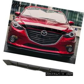 エアロパーツ 14-16 Mazda 3 Maxx Sedan Hatchback FHS Bonnet Glossy Black ABS Front Hood Cover 14-16マツダ3マックスセダンハッチバックFHSボンネットグロッシーブラックABSフロントフードカバー