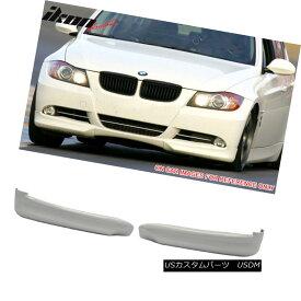 エアロパーツ Fits 06-08 BMW 3 Series E90 Sedan Front Splitter Lip Painted #300 Alpine White フィット06-08 BMW 3シリーズE90セダンフロントスプリッターリップペイント#300アルパインホワイト