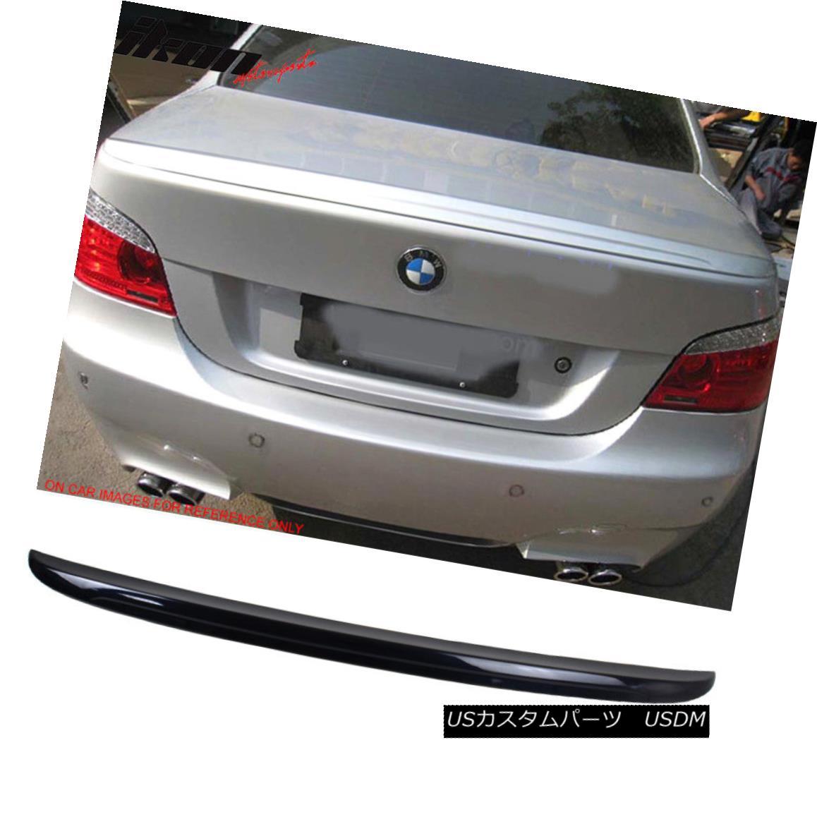 エアロパーツ 04-10 BMW E60 5-Series M5 Style Trunk Spoiler Painted #416 Carbon Black Metallic 04-10 BMW E60 5シリーズM5スタイルトランク・スポイラー・ペイント#416カーボン・ブラック・メタリック