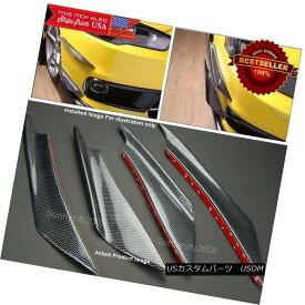 エアロパーツ Carbon Effect Bumper Splitter Fin Wing Spoiler Canard Diffuser for Mitsubishi カーボン効果バンパースプリッターフィンウィングスポイラーキャナルディフューザー三菱自動車