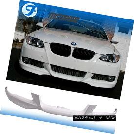 エアロパーツ Fit 07-10 BMW E92 E93 3-Series Front Bumper Lip # 300 Alpine White M-TECH Style フィット07-10 BMW E92 E93 3シリーズフロントバンパーリップ#300アルパインホワイトM-TECHスタイル