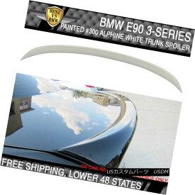 エアロパーツ 06-11 BMW 3 Series E90 4Dr OE Style #300 Alpine White III Painted Trunk Spoiler 06-11 BMW 3シリーズE90 4Dr OEスタイル#300アルパイン・ホワイトIII塗装トランク・スポイラー
