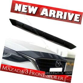 エアロパーツ Glossy Black Mazda 3 3rd Maxx Sedan Wagon Front Hood Bonnet Fin Spoiler 15+ 光沢ブラックマツダ3 3rd Maxxセダンワゴンフロントフードボンネットフィンスポイラー15+