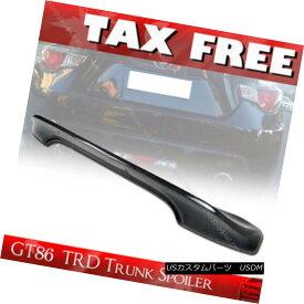 エアロパーツ Carbon Fiber For Toyota GT86 FT86 FR-S Subaru BRZ 2DR TRD Rear Trunk Spoiler § トヨタGT86 FT86 FR-S用カーボンファイバースバルBRZ 2DR TRDリアトランクスポイラー