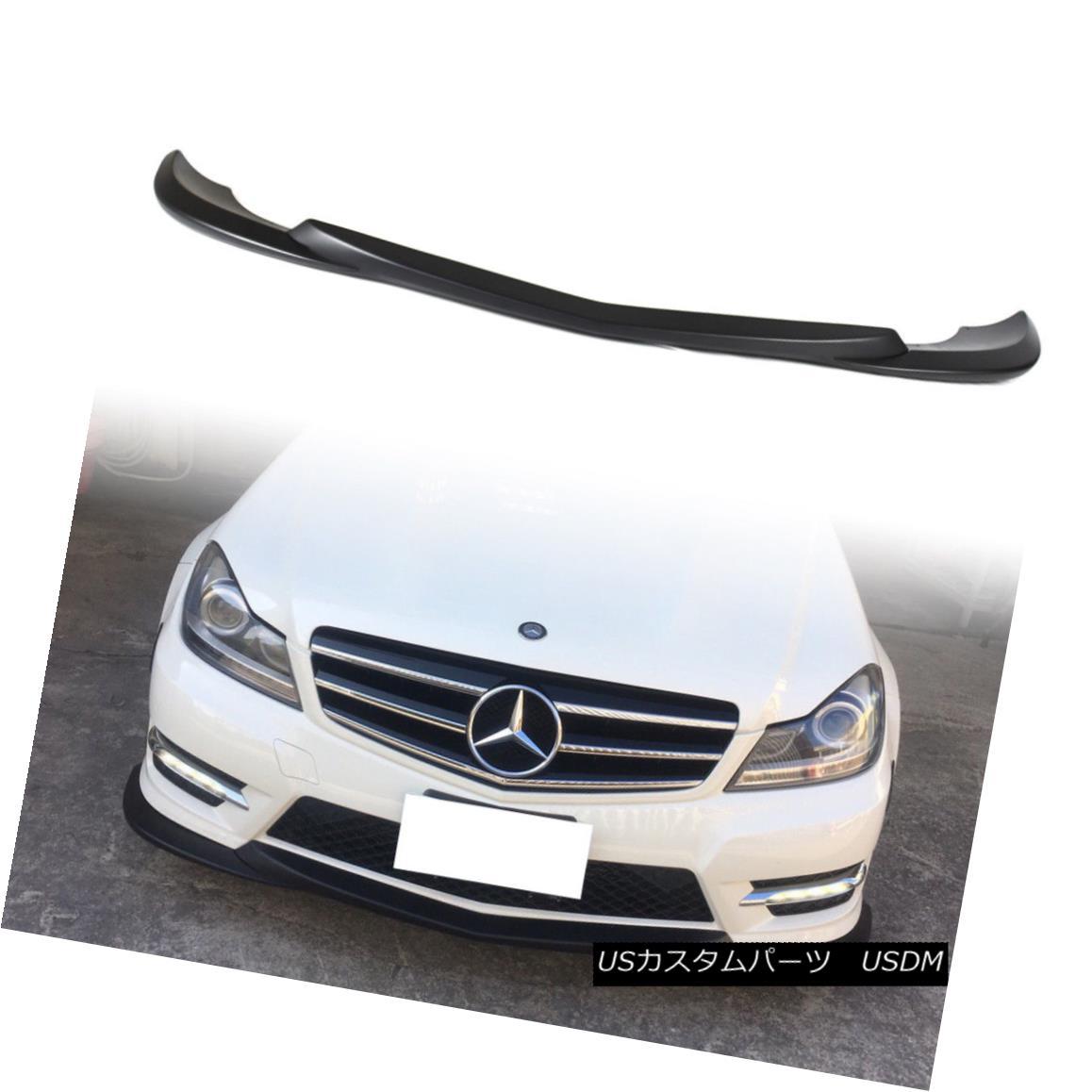 エアロパーツ New Matt Black Godhand Bumper Front Lip Spoiler For Mercedes BENZ W204 Facelift 新しいマットブラックゴッドハンドバンパーフロントリップスポイラーメルセデスBENZ W204 Facelift
