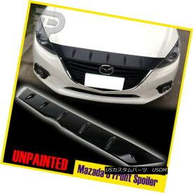 エアロパーツ FOR Mazda 3 4D 5D Maxx Glossy Surface Front Hood Bonnet Spoiler Fin 14-16 GX GS FOR Mazda 3 4D 5D Maxx光沢面フロントフードボンネットスポイラーフィン14-16 GX GS