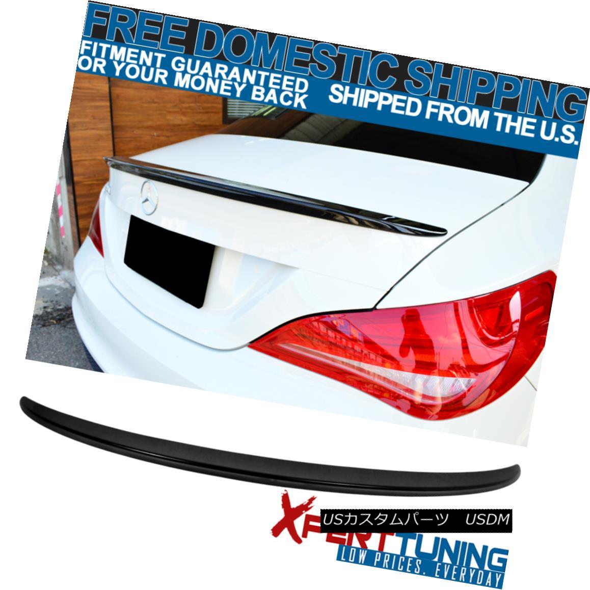 エアロパーツ 14-18 Benz CLA W117 ABS Trunk Spoiler Painted # 197 Obsidian Black Metallic 14-18 Benz CLA W117 ABSトランク・スポイラー・ペイント#197 Obsidian Black Metallic