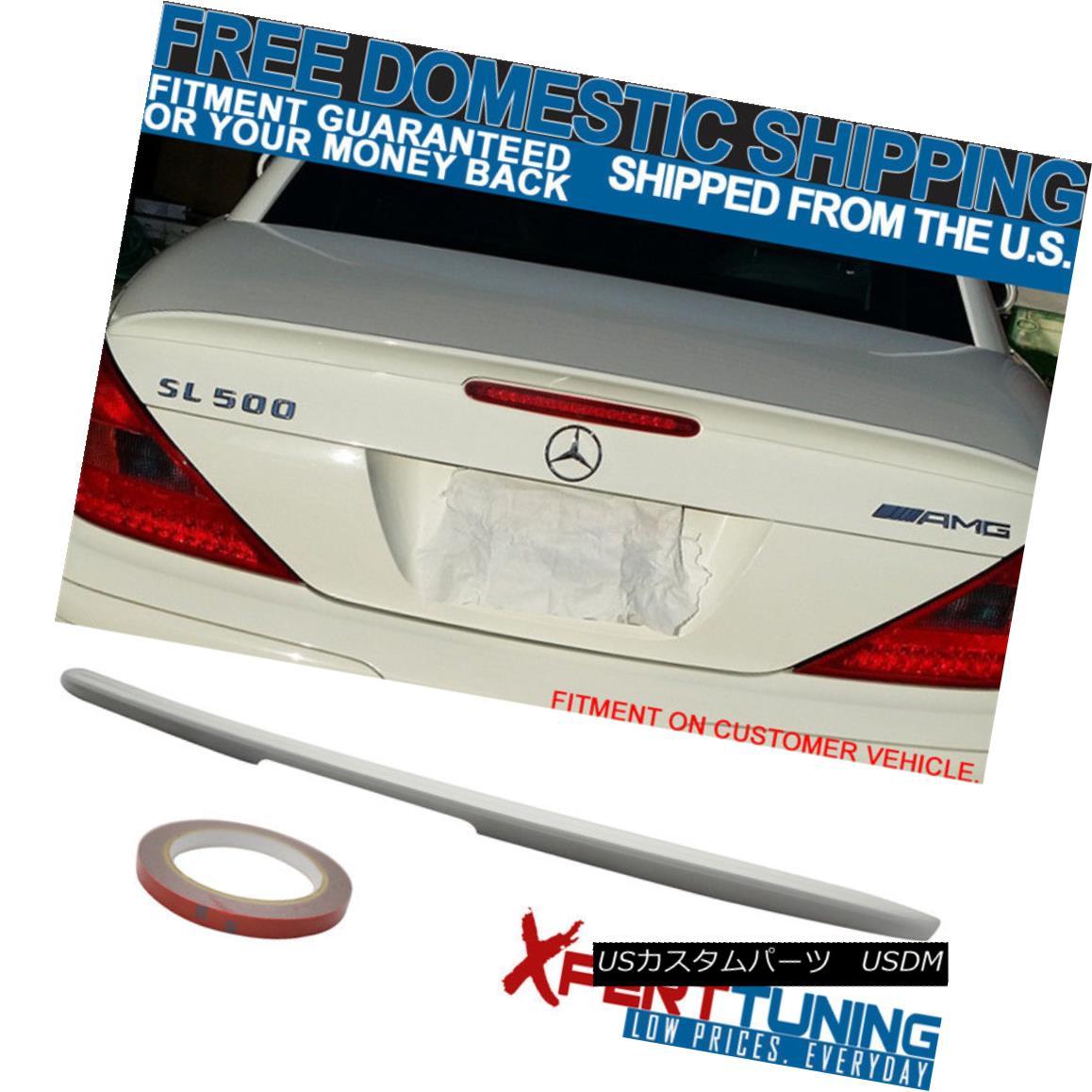 エアロパーツ FIT 03-11 Benz SL-Class R230 AMG ABS Trunk Spoiler Painted Alabaster White #960 FIT 03-11ベンツSLクラスR230 AMG ABSトランクスポイラー塗装アラバスターホワイト#960