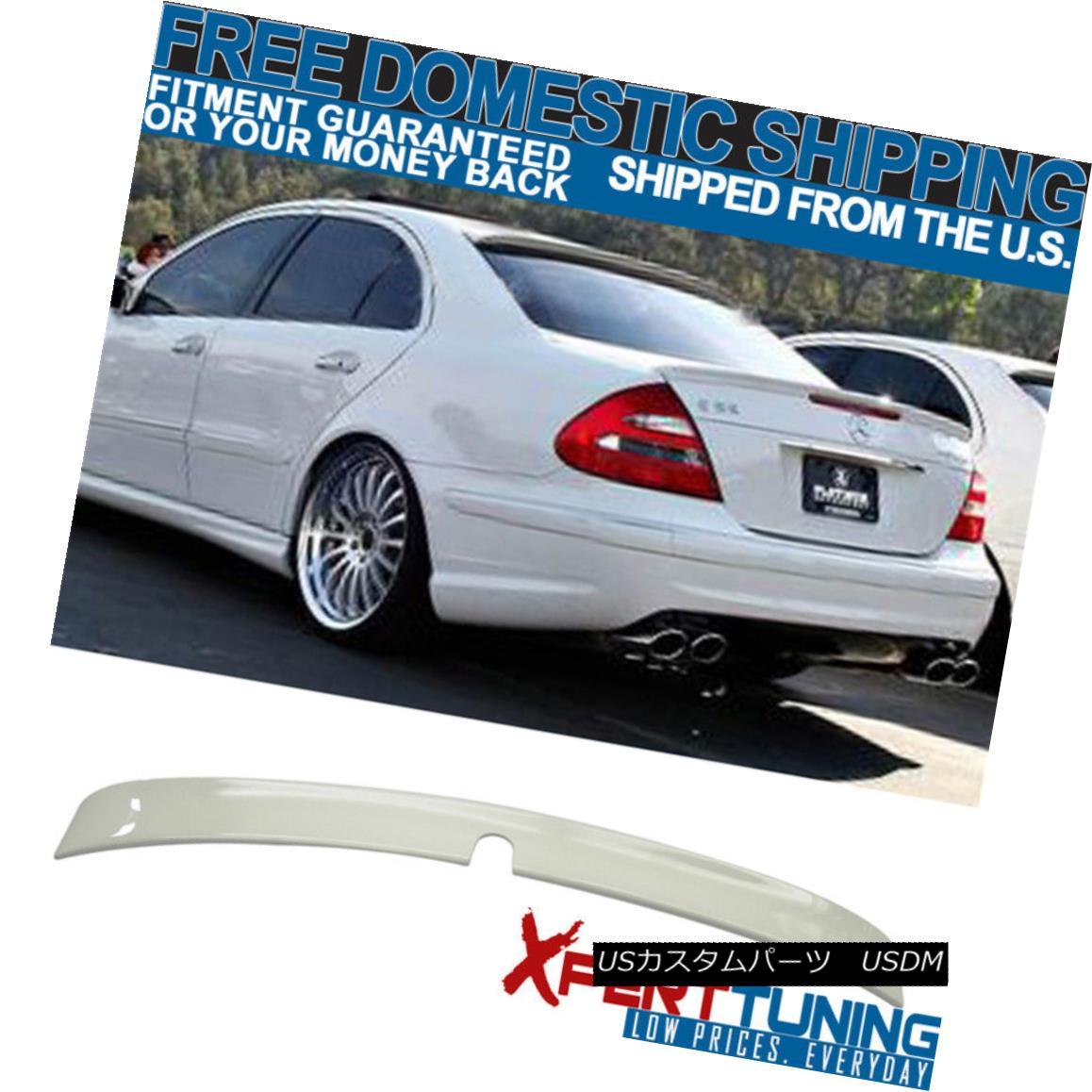 エアロパーツ 03-05 Benz E-Class W211 4Dr Painted #650 Calcite White ABS Roof Spoiler 03-05ベンツEクラスW211 4Dr塗装#650カルサイトホワイトABSルーフスポイラー