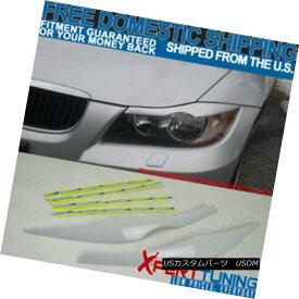 エアロパーツ 06 07 08 09 10 11 E90 ABS Front Eyelid Eyebrow Painted # 300 Alpine White III 06 07 08 09 10 11 E90 ABSフロントアイブロウ筆塗り#300アルパインホワイトIII