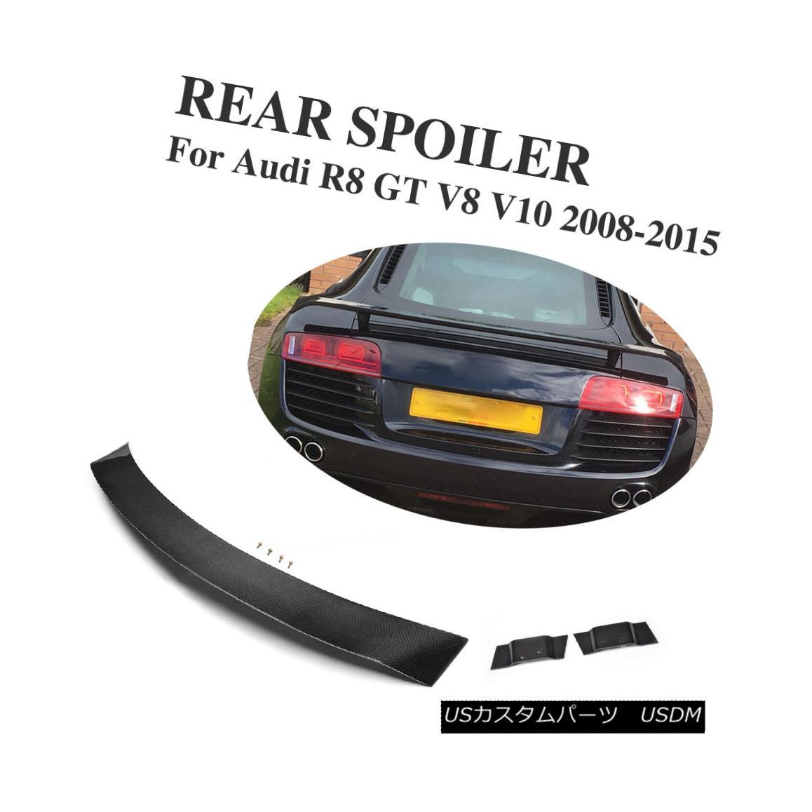エアロパーツ Car Auto Rear Trunk Spoiler Wing Carbon Fiber Fit for Audi R8 GT V8 V10 2008-15 車のオートリアトランク・スポイラーウィング・カーボンファイバー・アウディR8 GT V8 V10 2008-15