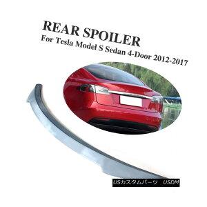 エアロパーツ Rear Trunk Spoiler Lip Wing Fit for Tesla Model S 12-17 Unpainted Gray Primer Tesla Model S 12-17未塗装グレープライマーのリアトランクスポイラーリップウィングフィット