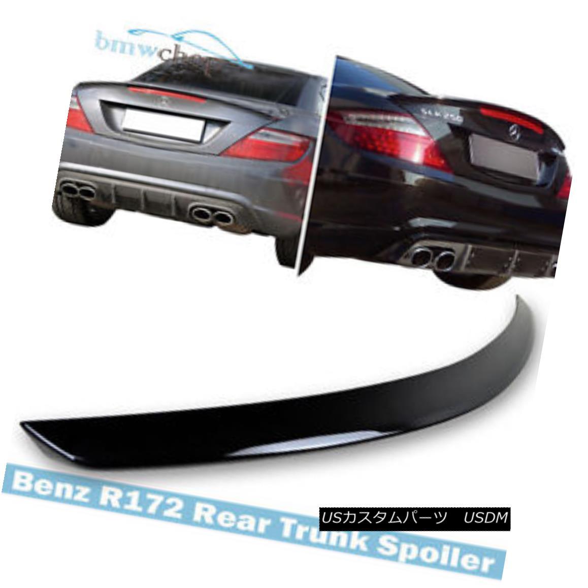 エアロパーツ Mercedes Benz SLK-Class R172 AM-Look Trunk Spoiler Painted #197 Obsidian Black メルセデス・ベンツSLKクラスR172 AMルック・トランク・スポイラー・ペイント#197 Obsidian Black
