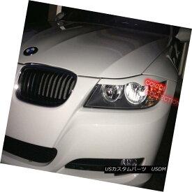 エアロパーツ Painted BMW 06~11 E90 E91 3-series eyelids brows color-300 Alpine White ◎ ペイントされたBMW 06?11 E90 E91 3系列のまぶたは、カラー300のアルパインホワイトを眉にかける?