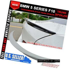 エアロパーツ 11-16 BMW 5-Series F10 Painted Trunk Spoiler Alpine White #300 11-16 BMW 5シリーズF10塗装トランク・スポイラーアルパイン・ホワイト#300