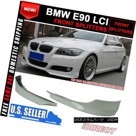 エアロパーツ 09-11 BMW E90 LCI OE Style Front Lip Splitters Painted Alpine White III - PP 09-11 BMW E90 LCI OEスタイルフロントリップスプリッターペインティングアルパインホワイトIII - PP