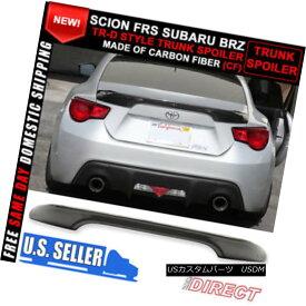 エアロパーツ Fit For 13-17 Scion FRS Subaru BRZ Carbon Fiber TR-D Style Trunk Rear Wing 13-17サイオンFRS用スバルBRZカーボンファイバーTRDスタイルトランクリアウイング