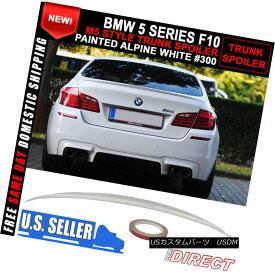 エアロパーツ Fit For 11-16 BMW 5 Series F10 M5 Style Painted # 300 Alpine White Trunk Spoiler 11-16 BMW 5シリーズF10 M5スタイル塗装#300アルパインホワイトトランク・スポイラー