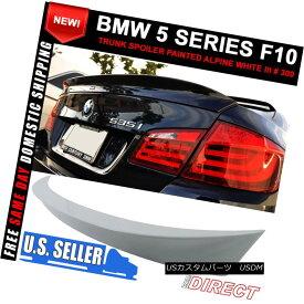 エアロパーツ 11-16 5 Series F10 4Dr AC Style Trunk Spoiler ABS Painted Alpine White III # 300 11-16 5シリーズF10 4Dr ACスタイルトランクスポイラーABS塗装アルパインホワイトIII#300