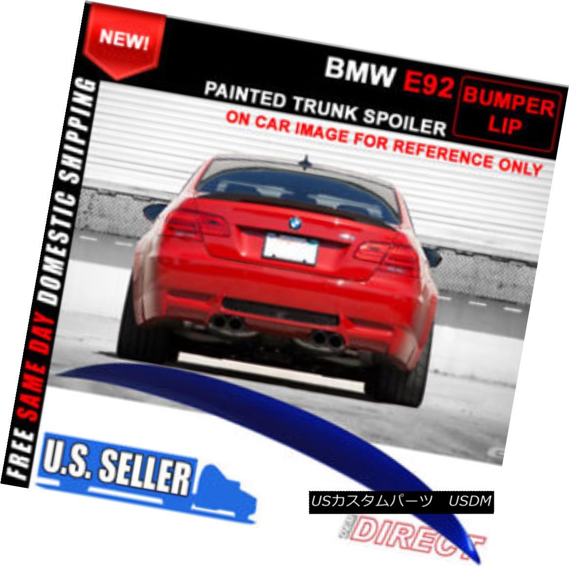 エアロパーツ 07-13 BMW E92 2Dr High Kick Trunk Spoile Wing Painted Montego Blue Metallic #A51 07-13 BMW E92 2Drハイキックトランクスポイラーウイングペイントモンテゴブルーメタリック#A51