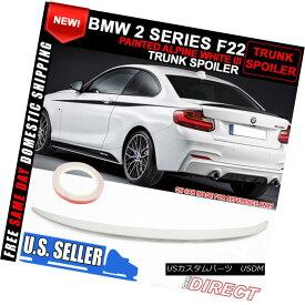 エアロパーツ 14-17 BMW 2 Series F22 P Style Trunk ABS Spoiler Painted Alpine White #300 14-17 BMW 2シリーズF22 PスタイルトランクABSスポイラーペイントアルパインホワイト#300
