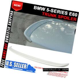 エアロパーツ 04-10 BMW 5 Series E60 M5 AC Style #300 Alpine White III Painted Trunk Spoiler 04-10 BMW 5シリーズE60 M5 ACスタイル#300アルパイン・ホワイトIII塗装トランク・スポイラー