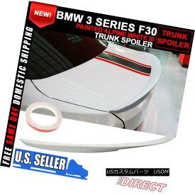 エアロパーツ 12-18 BMW 3 Series F30 P Style Trunk ABS Spoiler Painted Alpine White #300 12-18 BMW 3シリーズF30 PスタイルトランクABSスポイラーペイントアルパインホワイト#300