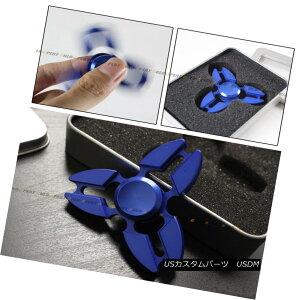 エアロパーツ Tri Fidget Hand Spinner Triangle Torqbar Brass Finger Toy Focus ADHD Autism Blue トライFidgetハンドスピントライアングルTorqbar真ちゅうの指の玩具フォーカスADHD自閉症青