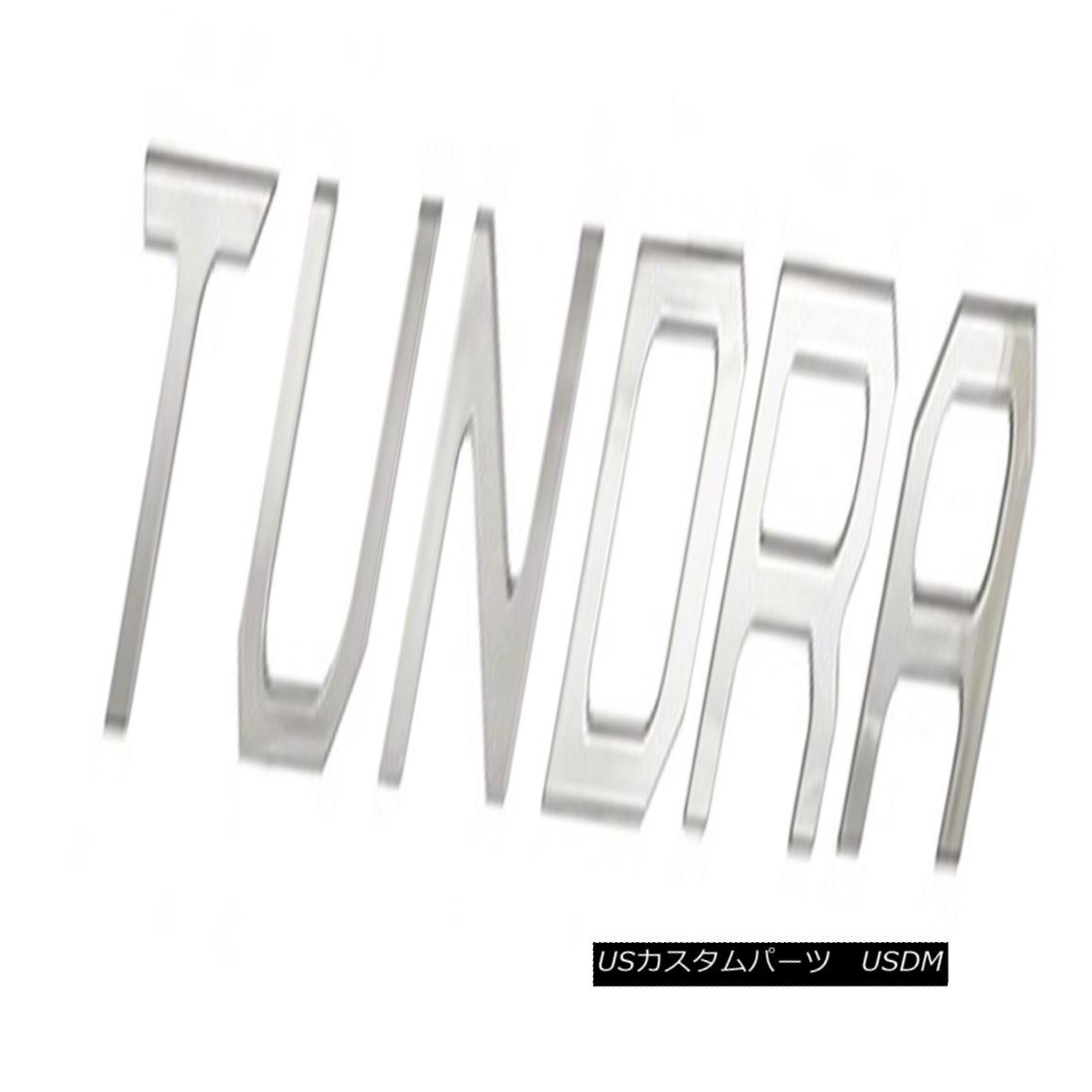 USグリル Fits 2014-15 Tundra Chrome Accent Letters (T-U-N-D-R-A) CCITUNDRA01S 2014-15 Tundra Chromeアクセントレター(T-U-N-D-R-A)CCITUNDRA01Sに適合