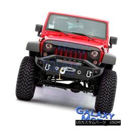 グリル 07-18 Wrangler JK Stubby Rock Crawler Front Bumper+LED Light Bar Mount+LED Mount 07-18ラングラーJKスタビーロッククローラーフロントバンパー+ LEDライトバーマウント+ LEDマウント