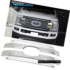 グリル Fits 17-18 Ford F250 F350 F450 F550 Superduty Platinum Style Grille - Chrome フィット17-18フォードF250 F350 F450 F550スーパープラチナスタイルのグリル - クロム