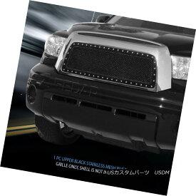 グリル Fedar Fits 2007-2009 Toyota Tundra Black BoltOn Rivet Formed Mesh Grille Insert Fedarは2007-2009年に合うToyota Tundra Black BoltOn Rivet Formed Mesh Grille Insert