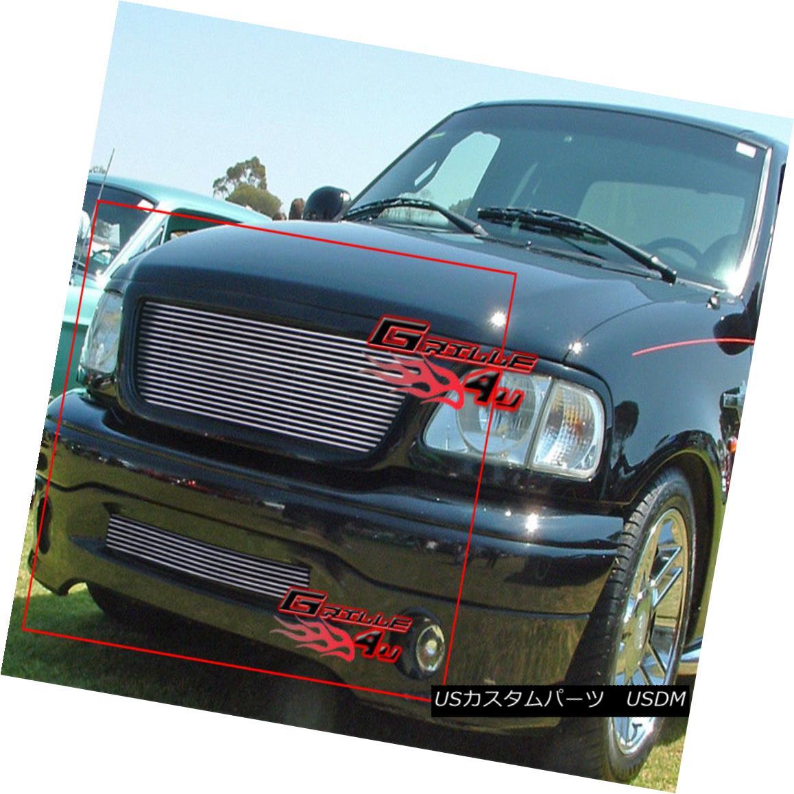 USグリル For 99-03 Ford F-150 Harley Davidson Billet Grille Combo 99-03フォードF-150ハーレーダビッドソンビレットグリルコンボ用