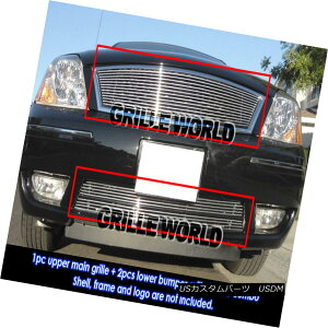グリル For 05-07 Ford Five Hundred 500 Billet Grille Combo Insert 05-07 Ford Five Hundred 500ビレットグリルコンボインサート
