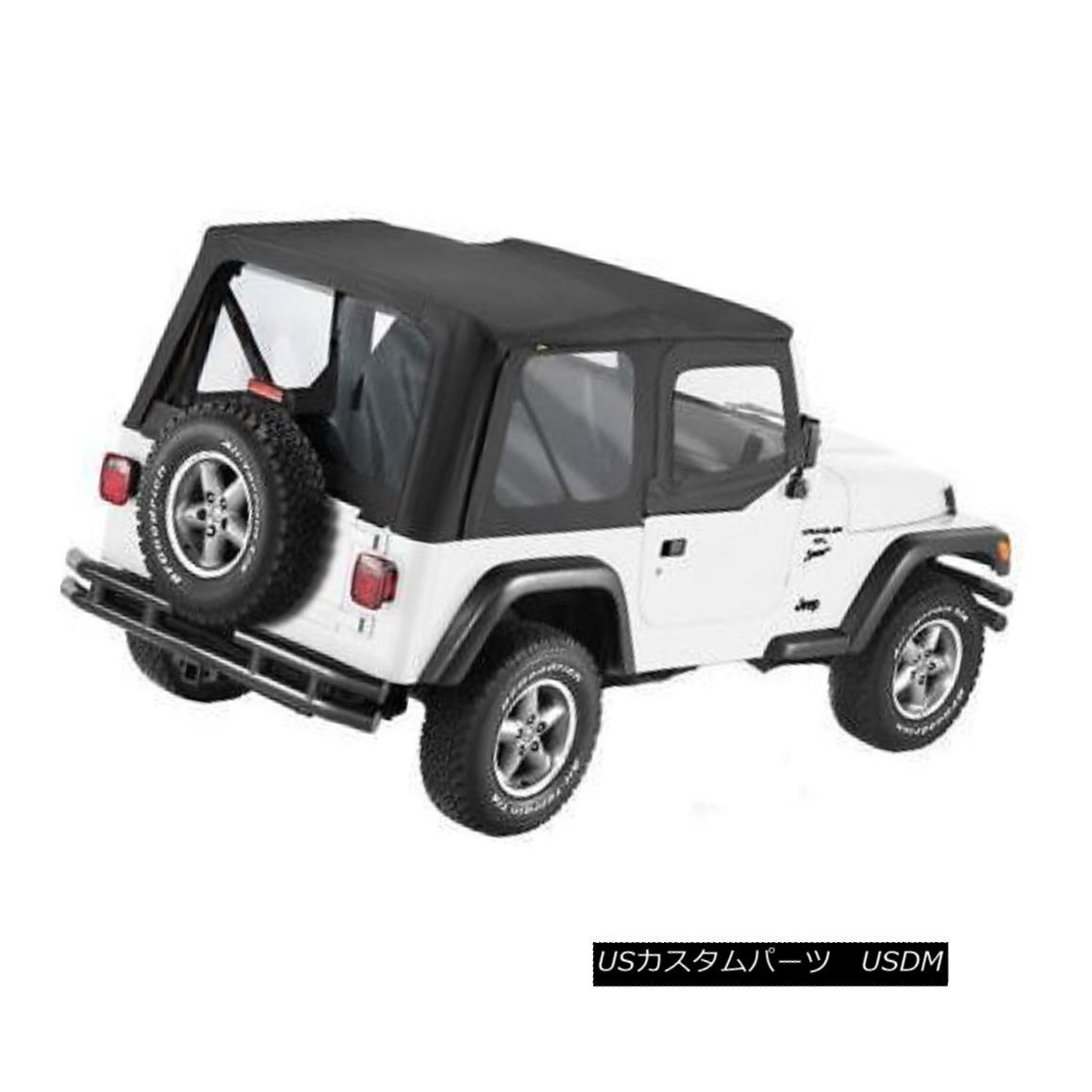 幌・ソフトトップ Bestop Soft Top Sailcloth Replace-A-Top Polymer Cloth Black Jeep Wrangler Each Bestopソフトトップセイルクロス交換 - トップポリマークロスブラックジープラングラー