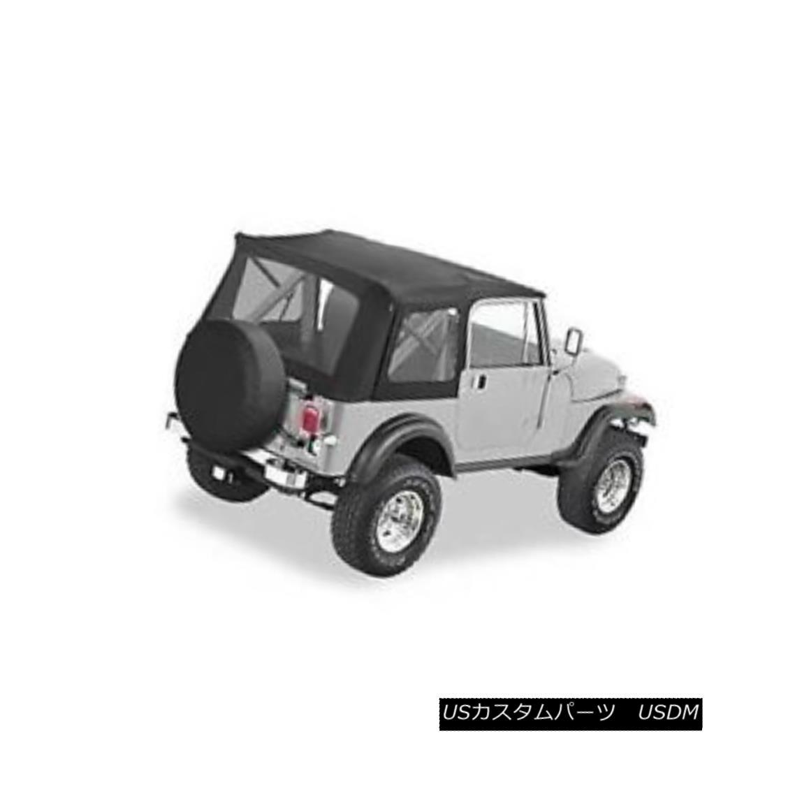 幌・ソフトトップ Bestop 51599-15 Soft Top Supertop Polymer Cloth Black Denim Jeep ベストトップ51599-15ソフトトップスパートップポリマークロスブラックデニムジープ
