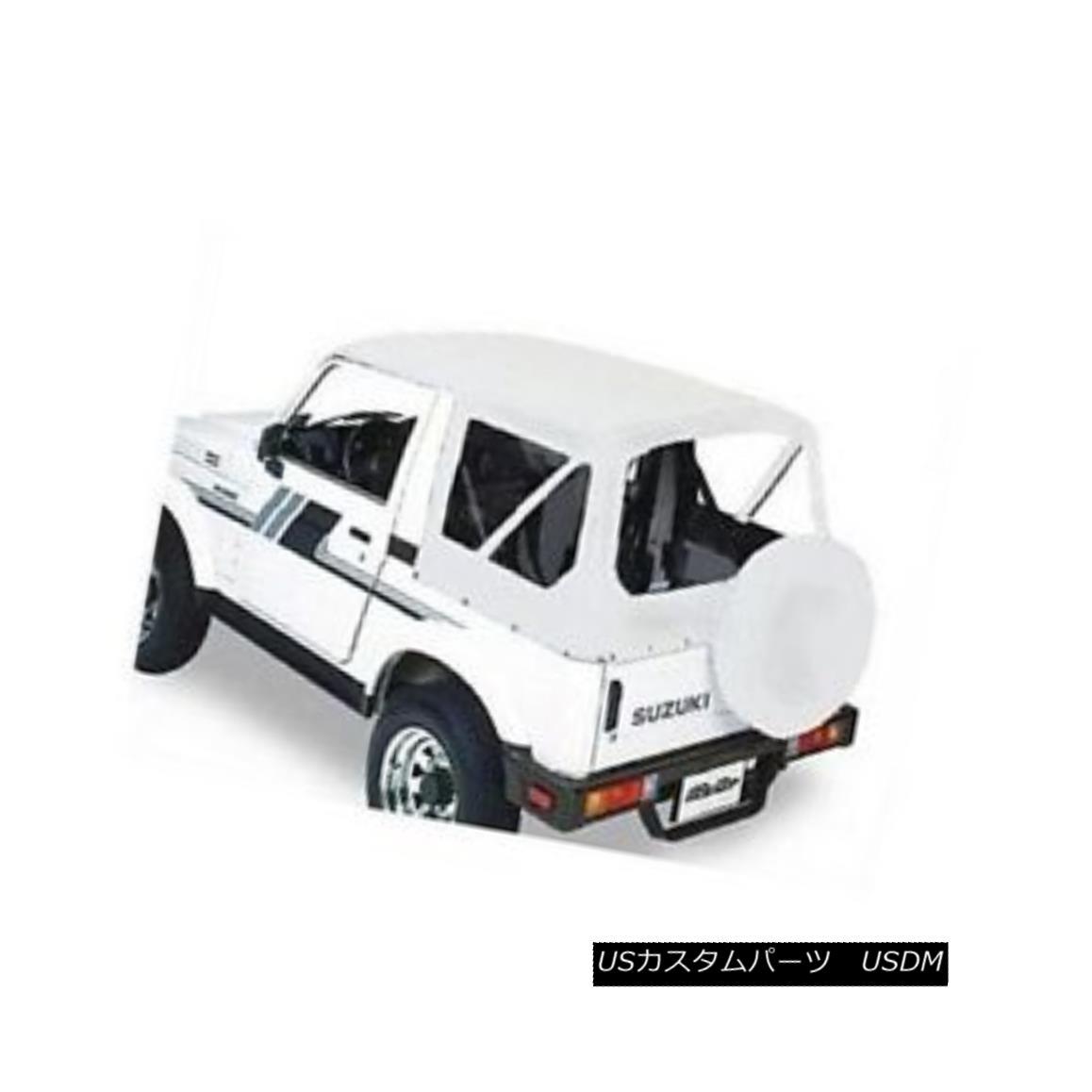 幌・ソフトトップ Bestop 51361-52 Soft Top Replace-A-Top Polymer Cloth White for Suzuki Samurai ベストトップ51361-52スズキサムライ用ソフトトップ交換ポリマートップホワイト