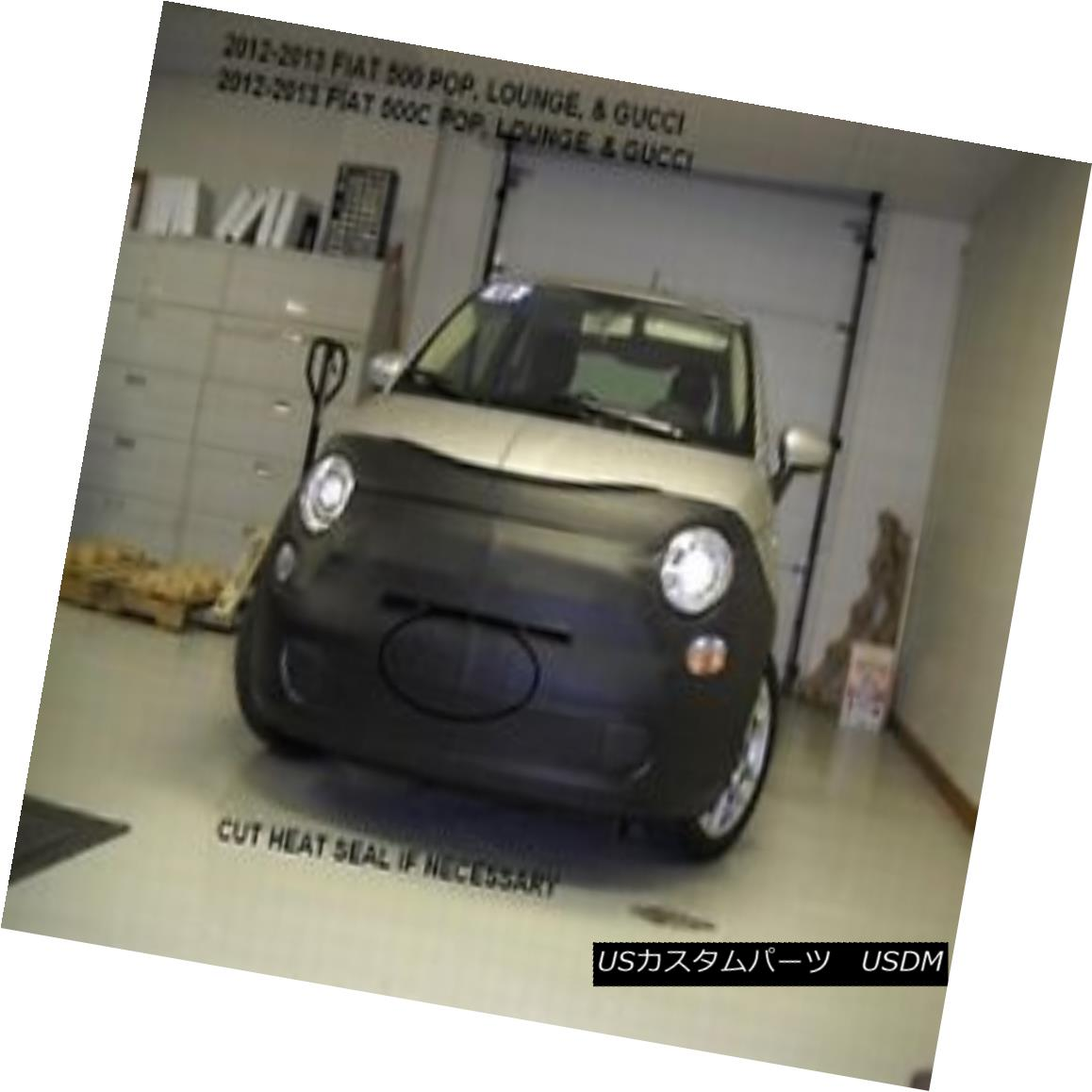 USフルブラ・USノーズブラ Lebra Front Mask Cover Bra Fits 2012-2017 Fiat 500 & 500C POP, Lounge & Gucci Lebraフロントマスクカバーブラフィット2012-2017 Fiat 500& 500C POP、ラウンジ& グッチ