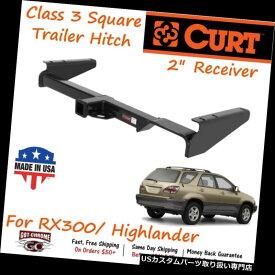 """ヒッチメンバー 13429 Curt Class 3スクエアトレーラーヒッチ、2 """"レシーバーチューブ付き - RX300 /ハイランド er 13429 Curt Class 3 Square Trailer Hitch with 2"""" Receiver Tube- RX300/Highlander"""