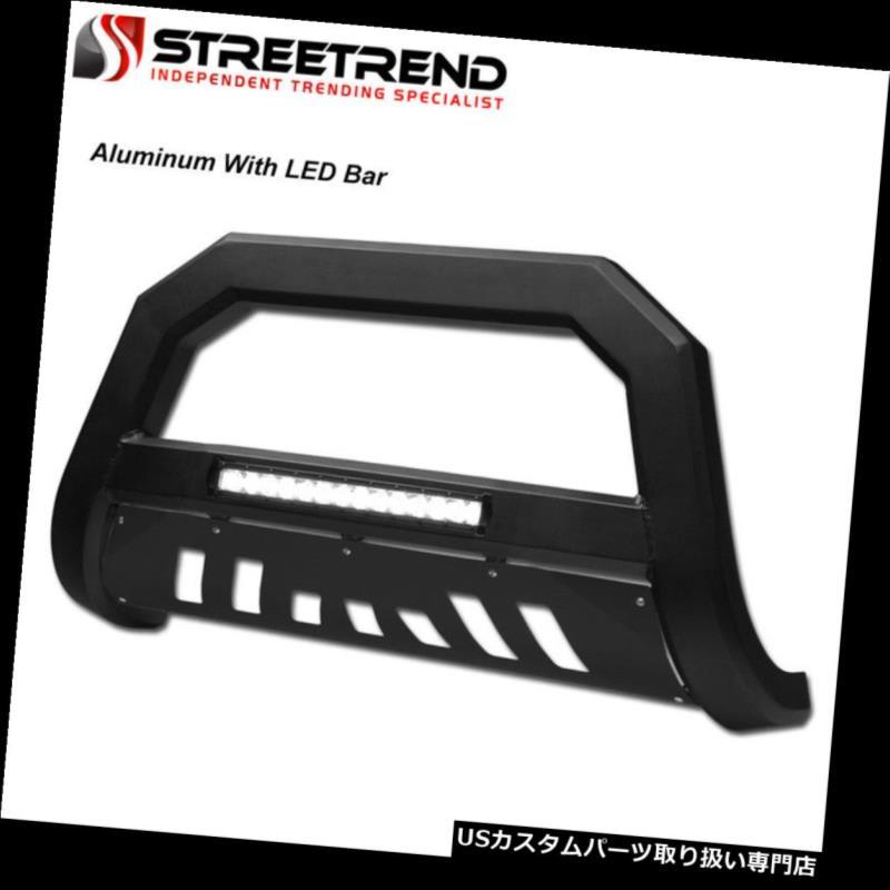 USグリルガード 03-09トヨタ4ランナー/ GX470マットブラックAVアルミLEDブルバーバンパーガード用 For 03-09 Toyota 4Runner/GX470 Matte Black AV Aluminum LED Bull Bar Bumper Guard