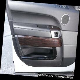クロームカバー メッキカバー 範囲ローバースポーツ2014-17年のための4 *レッドアッシュウッドグレインドア装飾カバートリム 4* Red Ash Wood Grain Door Decoration Cover Trim For Range Rover Sport 2014-17