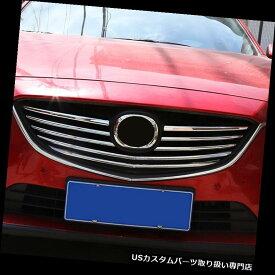 クロームカバー メッキカバー Mazda 6 2014クロームフロントメッシュグリルグリルトリムカバーモールディングガーニッシュにフィット Fit For Mazda 6 2014 Chrome Front Mesh Grille Grill Trim Cover Molding Garnish