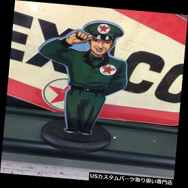 GTウィング TEXACOスタンドアップモーターモーターガソリンディスプレイGULF SONOCOスタンダードシンクレア TEXACO STAND UP MAN MOTOR OIL GASOLINE DISPLAY GULF SONOCO STANDARD SINCLAIR