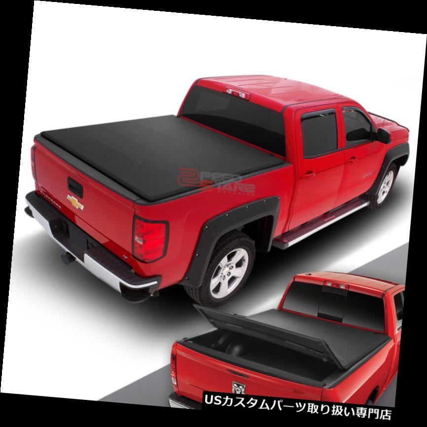 USトノーカバー/トノカバー 00-12用DAKOTA QUAD CABピックアップトラックトラックベッド6.3 'トリプルソフトトンネカバー FOR 00-12 DAKOTA QUAD CAB PICKUP TRUCK TRUNK BED 6.3'TRI-FOLD SOFT TONNEAU COVER