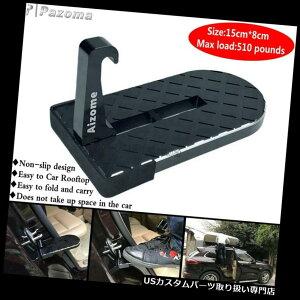ペダル 車のジープSUVのための黒いアルミ合金のドアのステップの折り畳み式の安全ハンマーのフィートのペダル Black Alumnum Alloy Doorstep Foldable Safety Hammer Foot Pedal For Car Jeep SUV