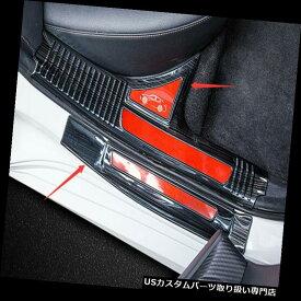 ペダル トヨタカムリ2018のための8PCS赤いステンレス製の歓迎されたペダルのドアの土台の傷のパネル 8PCS Red Stainless Welcome Pedal Door Sill Scuff Panel For Toyota Camry 2018