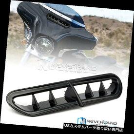 トライク カバー ハーレーツーリングFLトライク2014-2016用ブラックバットウィングフェアリングベントアクセントカバー Black Batwing Fairing Vent Accent Cover For Harley Touring FL Trike 2014-2016